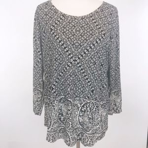 Lucky Brand Womens Tunic Top Paisley New Size XL